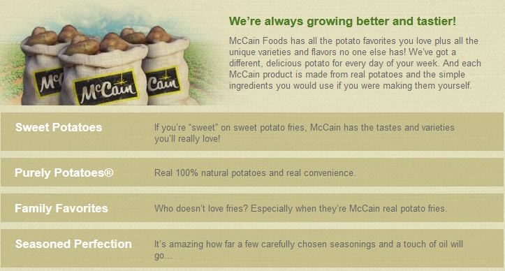 CLOSED) McCain's Potatoes Bring Smiles   Stacy UncorkedStacy Uncorked