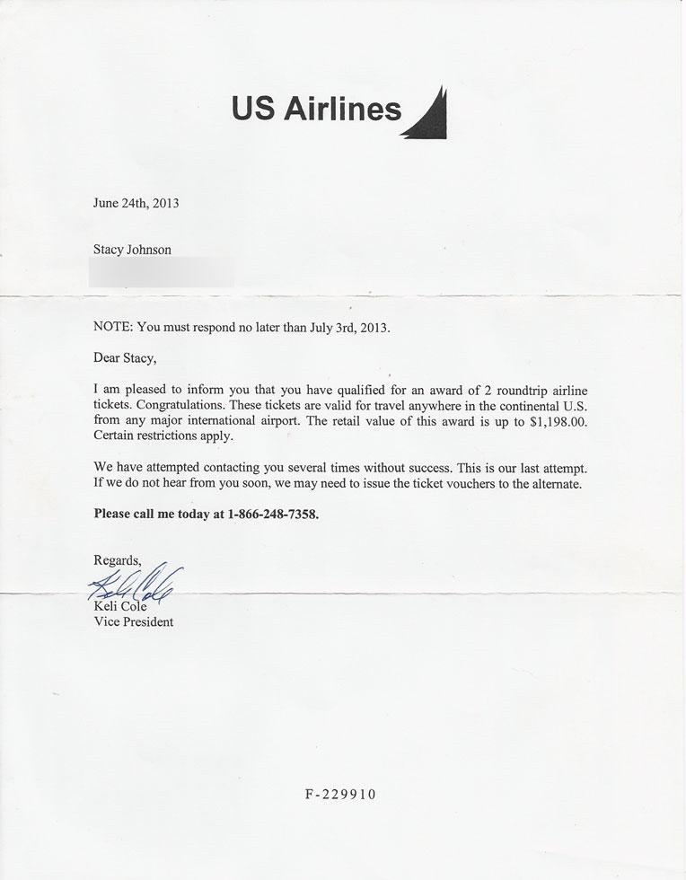 USAirlinesScam